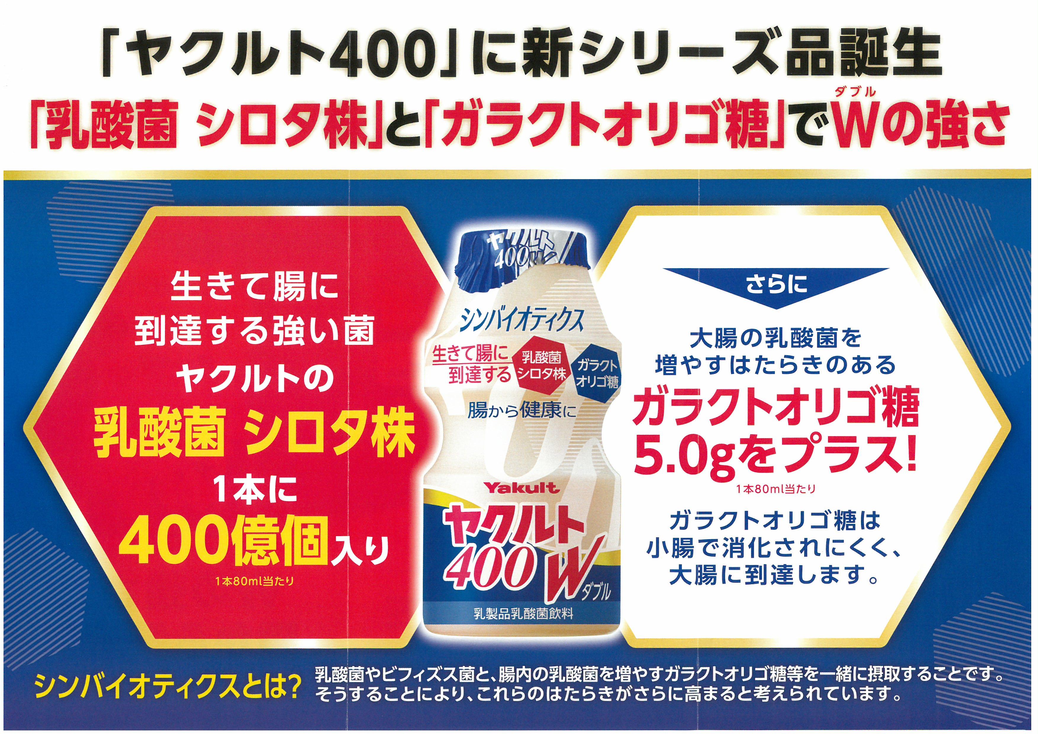 「ヤクルト400W」を九州地区で発売